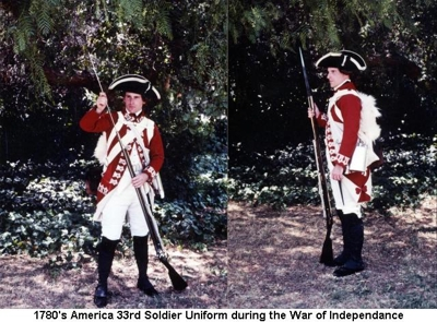 1780s America Typical uniform during WoI