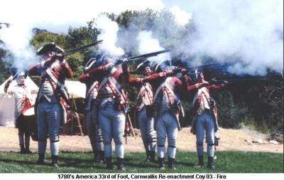 1780s America US 33rd of Foot Cornwallis Coy - Fire