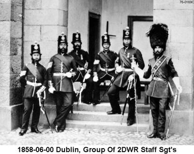 1858-06-00 Ireland Dublin Group Of 2DWR Staff Sgts