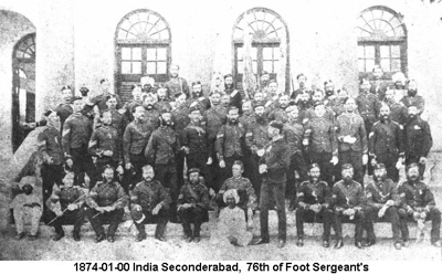 1874-01-00 India Seconderabad 76th of Foot Sgts Mess Members