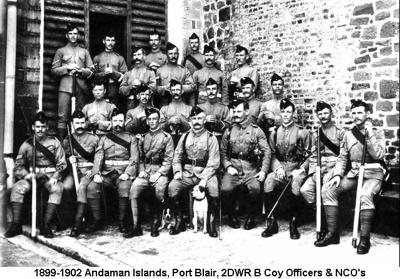 1899-1902 Andaman Islands Port Blair 2DWR B Coy Officers & NCOs
