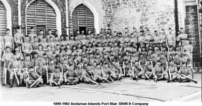 1899-1902 Andaman Islands Port Blair 2DWR B Coy Unit Photo