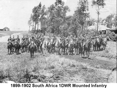 1899-1902 South Africa 1DWR Mounted Infantry