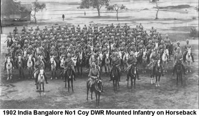 1902 India Bangalore 1DWR Mounted Infantry 02