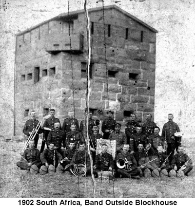 1902 South Africa Band Outside Blockhouse