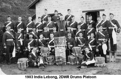 1903 India Lebong 2DWR Drums Platoon