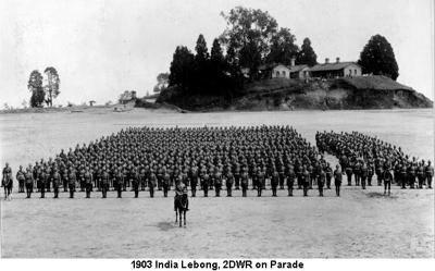 1903 India Lebong 2DWR on Parade