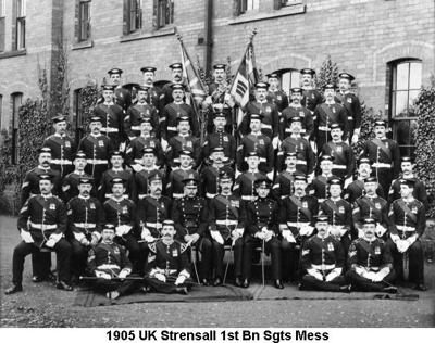 1905 UK Strensall 1st Bn Sgts Mess