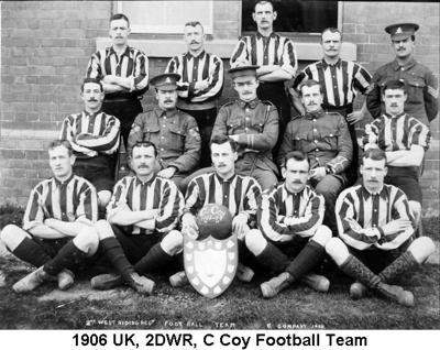 1906 UK 2DWR C Coy Football Team