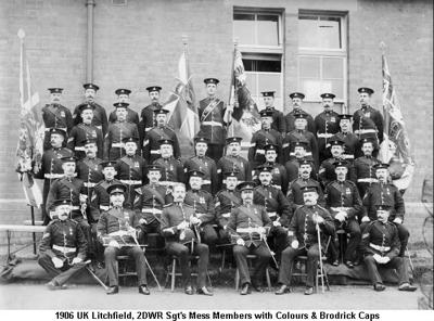 1906 UK Litchfield 2DWR Sgts Mess