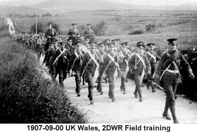 1907-09-00 UK Wales 2DWR Field Training