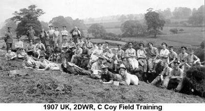 1907 UK 2DWR C Coy Field Training