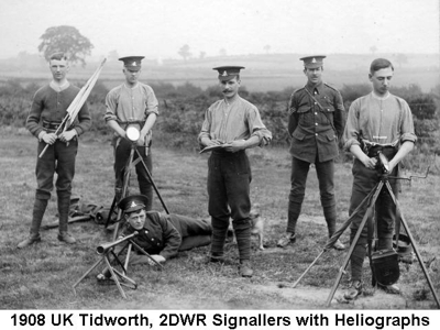 1908 UK Tidworth 2DWR Signallers with Heliographs