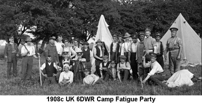 1908c UK 6DWR Fatigue party at camp
