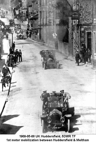 1909-05-08 UK Huddersfield 5DWR TF 1st motor mobilization between Huddersfield & Meltham
