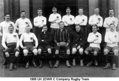 1910 UK 2DWR Regimental Rugby Team