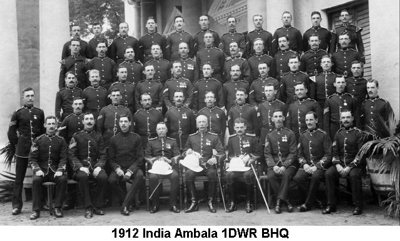 1912 India Ambala 1DWR BHQ