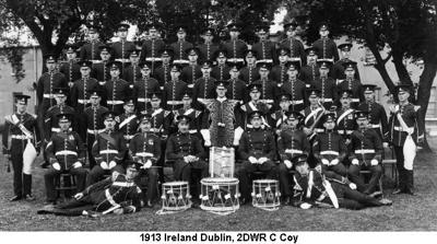 1913 Ireland Dublin 2DWR C Coy Drums