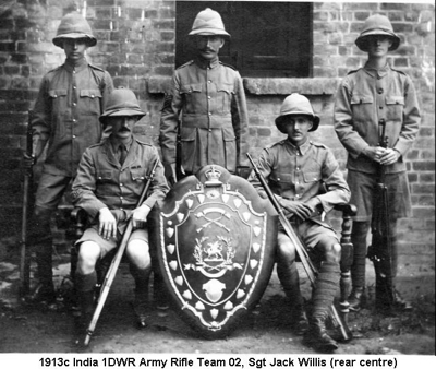 1913c India 1DWR Army Rifle Team 02 with Sgt Jack Willis