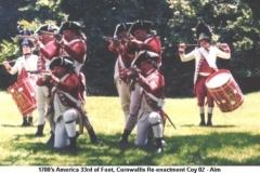 1780s America US 33rd of Foot Cornwallis Coy - Aim