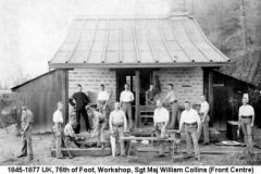 1845-1877 UK 76th of Foot Workshop Sgt-Maj W Collins (F Centre)