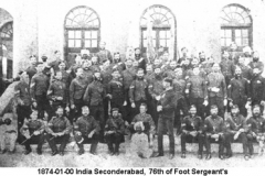 1874-01-00 India Seconderabad 76th of Foot Sgts Mess Members