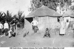 1896 South Africa Eshowe Port Curtis 2DWR Officers Mess Hut