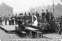 1899-05-04 UK Laying Foundation Stone St Paul St Drill Hall 5DWR