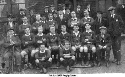1920c 1st 4th DWR Rugby Team with Casper