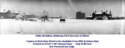 1920c UK Halifax Wellesley Park Bks Parade Square in Winter