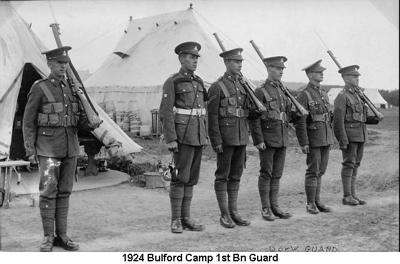 1924 Bulford Camp 1st Bn Guard