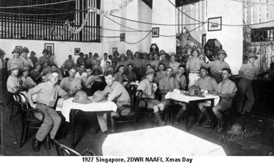 1927 Singapore 2DWR NAAFI Xmas Day