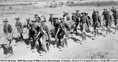 1929-01-00 India 2DWR Marching 78 Miles from Ahmednagar to Kazipur