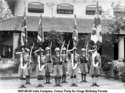 1933-06-03 India Kamptee Colour Party for Kings Birthday Parade