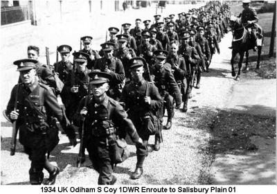1934 UK Odiham S Coy 1st Bn Enroute to Salisbury Plain 01