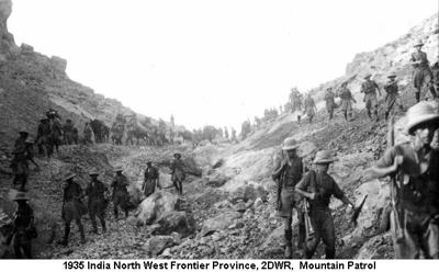 1935 India NWFP 2DWR on Patrol
