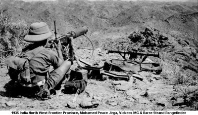 1935 India NWFP Mohamed Peace Jirga Vickers MG & Barre Strand Rangefinder