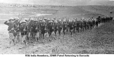 1936 India Nowshera 2DWR Patrol Returning to Barracks