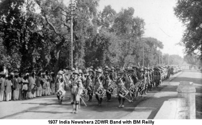 1937 India Nowshera 2DWR Band BM Reilly