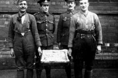 1914-1919 1st 5th DWR unknown Dukes with a big pie in a dish