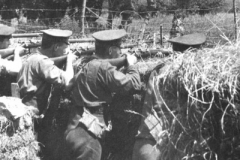 1915 France Feurbaise 1st 4th DWR in Reserve trench with Long Lee-Enfield Rifles