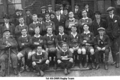 1920c 1st 4th DWR Rugby Team with Casper