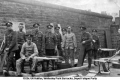 1920c UK Halifax Wellesley Park  Depot Fatigue Party