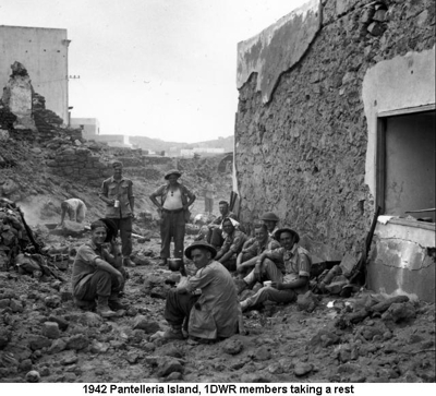 1942 Pantelleria Island 1DWR members taking a Quick Break