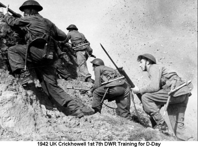 1942 UK Crickhowell 1st 7th DWR Training for D-Day