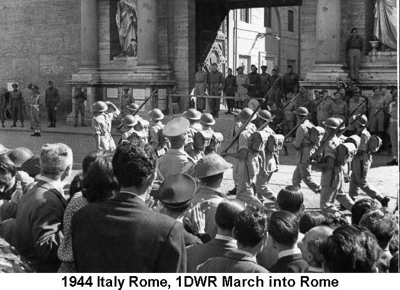 1944 Italy Rome 1DWR March into Rome