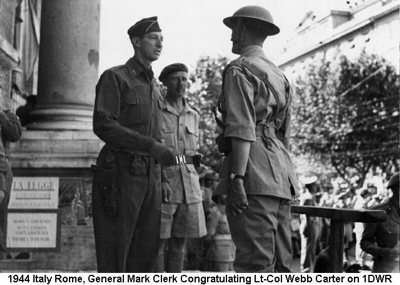 1944 Italy Rome General Mark Clerk