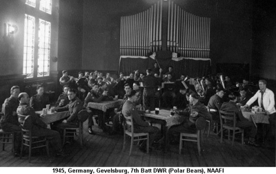1945 Germany Gevelsburg 7DWR NAAFI