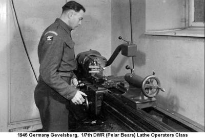 1945 Germany Gevelsburg Lathe Operators Course