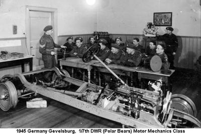 1945 Germany Gevelsburg Motor Mechanics Course 01